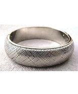 Monet Bangle Bracelet Hinged Silver Tone 7 inch - $24.00
