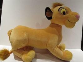 "Simba Lion King Plush 18"" Animal Disney Hasbro 2002 -Good Clean Condition - $19.75"