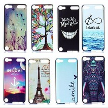 Hard Plastic Abstract Animal & Quote Case Cover for iPod Touch 5th & 6th... - $5.50