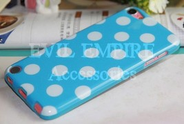 Cute Silicone TPU Polka Dot Case Cover Skin for iPod Touch 5 5th Generation - $4.99