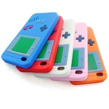 Silicone Rubber Gel Gameboy Case Skin Cover for iPod Touch 4 4th Generation - $4.99