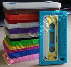 Silicone Rubber Gel 3D Cassette Tape Case Skin for iPod Touch 4 4th Gene... - $4.99