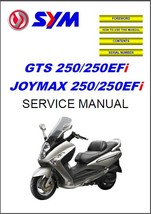 SYM GTS / Joymax 250 - 250 EFi Scooter Service Repair Manual CD - $12.00