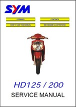 SYM HD 125 / 200 Scooter Service Repair Manual CD  - Sanyang HD125 HD200 - $12.00