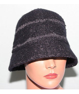 NEW August Accessories Black Wool Cloche Hat NWT MSRP $44 - $9.89