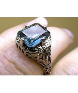 FILIGREE RING 9 SILVER 925 RUSSIAN ALEXANDRITE color change emerald cut ... - $60.60