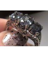 FILIGREE RING 10 SILVER 925 RUSSIAN ALEXANDRITE color change emerald cut gem WOW - $69.95