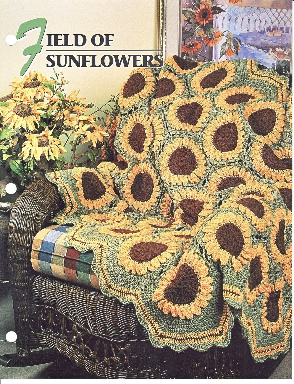 ... Crochet Pattern Blanket Throw Annies Attic - Patterns-Contemporary