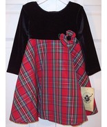 NWT Good Lad Girl's Red Plaid Christmas Holiday Dress, 18M, $42 - $14.99