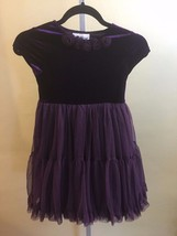 Rare Edition Girls Purple Volur   w/Lace Bottom Dress Size 7/8 - $10.36