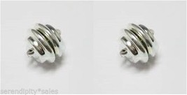 2 Sets Silver Magnetic Clasps Mag Lok ~ Super Strong ~ 11mm X 11mm - $11.71