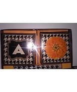 Floral Letter Initial A 8 Notecards & Envelopes and Pen Set Black White ... - $8.90