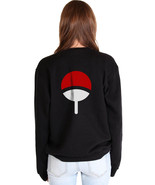 Uchiha Clan Symbol on back Naruto Unisex Crewneck Sweatshirt BLACK - $30.00+