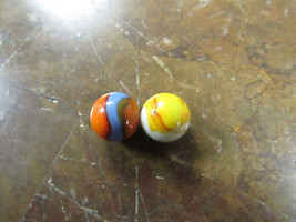 PAIR OF CORKSCREW MARBLES    - $6.00