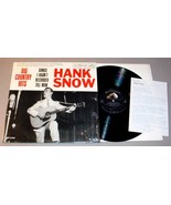 HANK SNOW LP + SIGNED LETTER - RCA LPM2458 Big Country Hits (1961) - $125.00