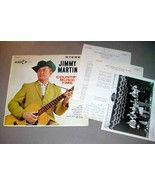 JIMMY MARTIN LP + PHOTO + SIGNED LETTER - Country Music Time (1962) - $135.00