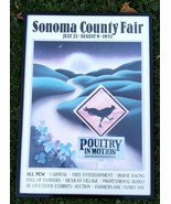 Sonoma County Fair CA Lithograph July1987 poster Poultry In Motion Horse... - $247.50