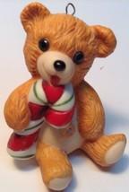 Hallmark 1985 CINNAMON BEAR # 3 in Porcelain Bear Series Christmas Ornam... - $21.82