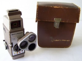 VTG BELL & HOWELL 333 8MM Home Movie Camera COLLECTIBLE VINTAGE ~ USA Se... - $42.54