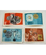Lot of 4 1968 USSR Russia postal stamps Prizes for postage stamp exhibit... - $39.60