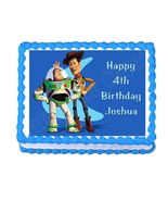 Buzz Lightyear and Woody Toy Story edible cake topper frosting sheet dec... - $8.98+
