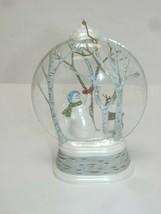 Hallmark 2012 Ornament WOODLAND WONDERLAND Snowman Bird Trees Deer - $11.00