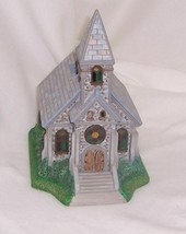 """PartyLite """"The Church"""" Olde World Village Painted Bisque Porcelain Retired - $28.66"""