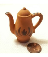Handmade Vintage Terracotta Teapot Dollhouse Miniature Hand Crafted Painted - $19.16