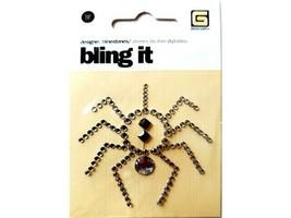 BasicGrey Bling It Designer Rhinestone Spider, Perfect for Halloween!
