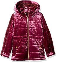 Limited Too Girls' Little Crushed Velvet Anorak with Sequins, Burgundy, 5/6 - $40.07