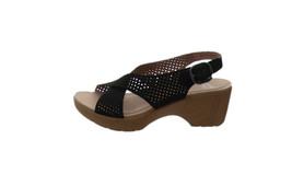 Dansko Perforated Sandals Jacinda Black 36=5.5-6US NEW A289112 - $74.23