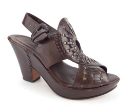 FRYE Size 6.5 Brown Leather Mantle Wedge Sandals Shoes 6 1/2 - $84.00