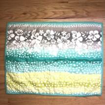 Pottery Barn Pillow Sham Tropical Aqua Blue White Polka Dots Teen Case - $13.55