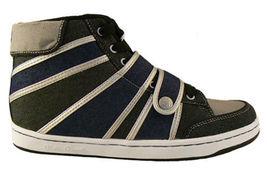 Public Royalty Noir Bleu Zaq Haut Jeans Chaussures Baskets Nib image 2