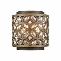 Elk 12150/2 Rosslyn Wall Sconce, 2-Light 120 Total Watts, Mocha/Deep Bronze - $278.00