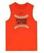 Nike Boys Power Hitter Tank Muscle Shirt Size 5 NWT - $16.48