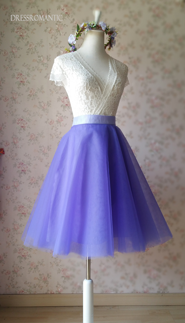 Light-Purple Ballerina Tulle Skirt Girls Plus Size Tulle Tutu Skirt