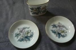 "Vintage Royal Worcester "" Woodland "" 2 Butter Pats & 1 Oval Toothpick Ho... - $24.74"