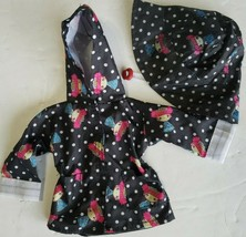 "American Girl Type 18"" Doll Betty Boop Style Rain Slicker & Rain Hat - $23.57"