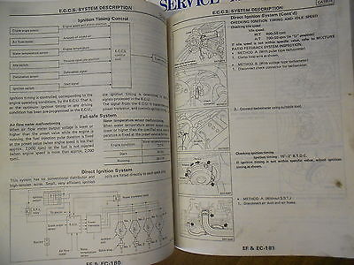 1989 Nissan Pulsar NX Service Repair Shop Manual SET Factory Book OEM 89