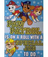 "PAW Patrol Greeting Card Birthday ""The PAW PATROL is on a roll with a sp... - $3.89"