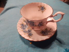 Royal Albert Blue Flower cup and saucer bone china England Free Shipping #4 - $34.90