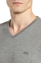 Lacoste Men's Premium Pima Cotton V-Neck Sport Shirt T-Shirt Tonal Croc image 11