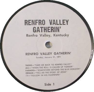 (44) RENFRO VALLEY GATHERIN' RADIO SHOW LP RECORDS SET 1971-1975