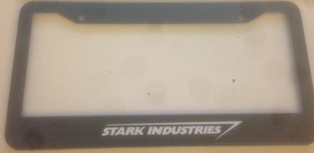 Stark industries black plate
