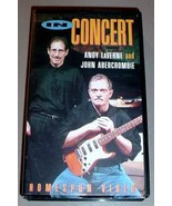 ANDY LAVERNE & JOHN ABERCROMBIE VHS VIDEO - In Concert - $30.00