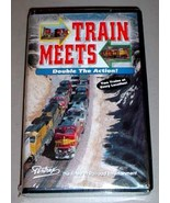 TRAIN MEETS SEALED VHS - Two Trains at Every Location! - $24.95