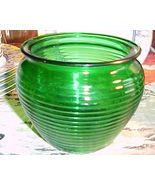 National Potteries Ribbed Mid-Century Retro Styled Bowl Vase #1162,Cleve... - $9.99