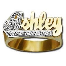 name engraved gold plated personalized necklaces jumbo silver product ring plate nameplate rings
