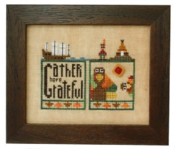 Thansgiving Double Up chart series cross stitch chart Heart In Hand  - $7.65